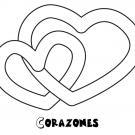 Dibujo de corazones para imprimir y colorear