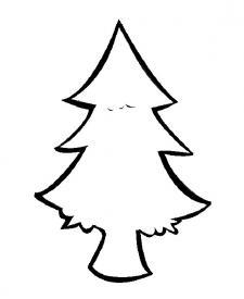 Abeto de Navidad. Dibujo para colorear