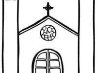 Iglesia Para Colorear En Conmishijoscom