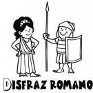 Dibujo de un disfraz de romano para pintar con niños en Carnaval