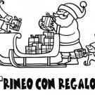 Imagen de Papá Noel y duendes cargando el trineo