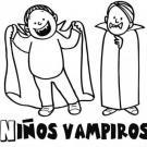 Dibujo de niños vampiros para pintar