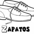 Dibujo para colorear de zapatos de cordones para los niños