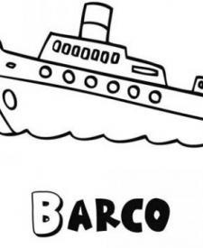 Dibujos de un crucero para colorear. Dibujos de barcos para niños