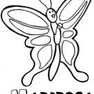Dibujo de mariposa con las alas extendidas. Dibujos de animales