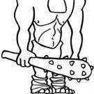 Dibujo de un troll para imprimir y colorear