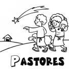 Dibujos para pintar de pastores llegando al portal de Belén