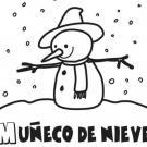 Dibujo infantil del muñeco de nieve de Navidad