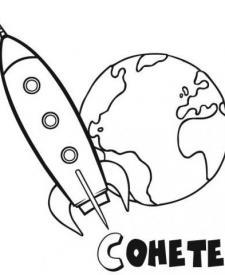 Cohete rodeando la tierra
