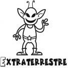 Dibujos infantiles de un extraterrestre. Dibujos del espacio