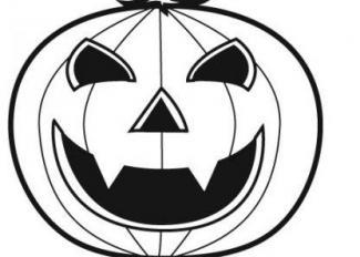 Dibujo de calabaza de Halloween para pintar
