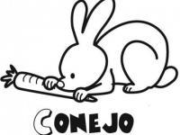 Conejos para colorear en Conmishijoscom
