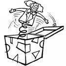 Dibujos de una caja sorpresa para colorear por los niños