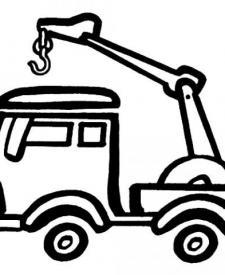 Dibujos de camión grúa para colorear e imprimir