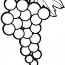 Dibujos de uvas para imprimir y pintar con niños