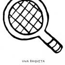 Dibujo de una raqueta de tenis, objetos deportivos para pintar