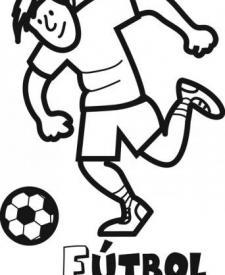 Dibujo de jugador de fútbol para colorear. Dibujos de deportes para niños
