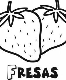 Dibujo Para Imprimir Y Colorear De Fresas Dibujos De Frutas