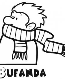 Dibujos gratis de una bufanda. Imágenes de ropa de invierno para pintar
