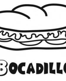 Bocadillo para colorear. Dibujos de alimentos para niños