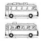 Dibujos de autobuses para colorear por los niños