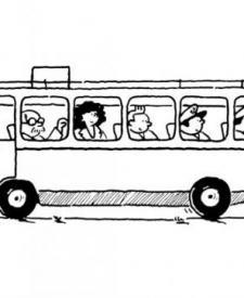 Autobús para colorear. Dibujos de medios de transporte para niños