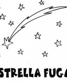 Dibujo de una estrella fugaz para colorear. Dibujos del espacio para niños