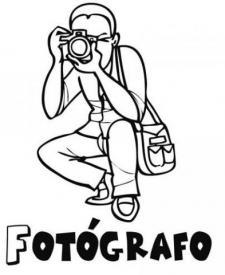 Dibujo de un fotógrafo para pintar. Dibujos de profesiones para imprimir