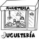 Dibujos para pintar de tiendas: juguetería