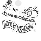 Dibujos para colorear de un cartel de Feliz Navidad.
