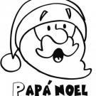 Dibujo de Navidad de Papá Noel asombrado