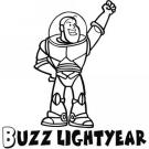 Dibujo de Buzz Lightyear para colorear por los niños.