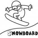 Snowboard. Gratis para imprimir y colorear