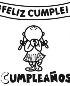 Dibujos de un cartel de cumpleaños para colorear con los niños