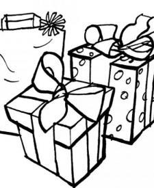 Regalos envueltos de Navidad para que los niños pinten