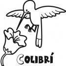 Colibrí para colorear con los niños. Dibujos de pájaros.
