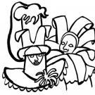 Dibujo de los Carnavales de Venecia para colorear con niños