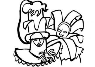 Dibujo de los Carnavales de Venecia