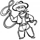 Dibujo de un disfraz de vaquero para pintar en Carnaval con niños