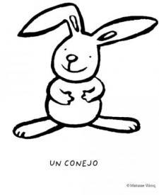 Dibujos de conejo para colorear con los niños