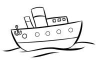 Barco para colorear en Conmishijoscom