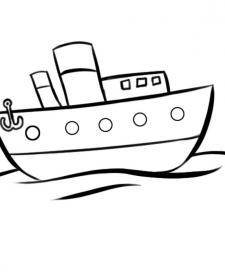Dibujos de barco navegando en el mar para colorear