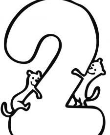 Dibujos para colorear y pintar del número 2 para los niños