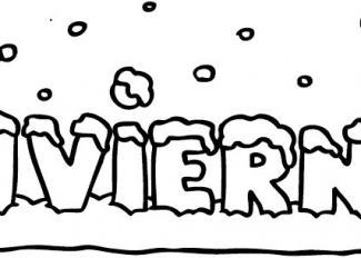Colorear la palabra invierno
