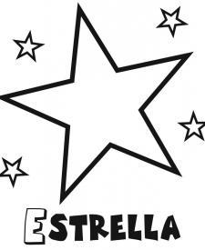 Dibujo infantil de estrella con estrellitas. Dibujos para colorear