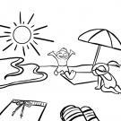 Playa en vacaciones