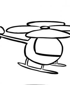 Dibujo gratis de un helicóptero para imprimir y colorear