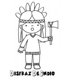 Imágenes infantiles de disfraz de indio
