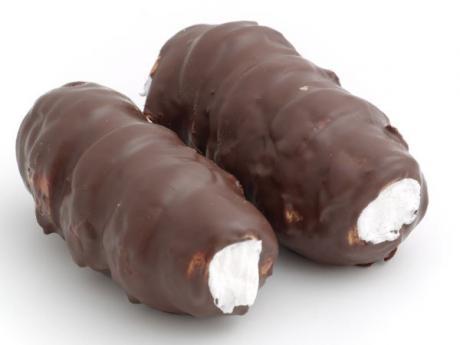 Rollitos de chocolate. Postres para niños