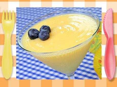 Receta de crema de limón. Postre fácil para niños